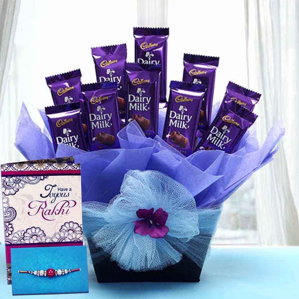 Rakhi With Chocolates Delivery