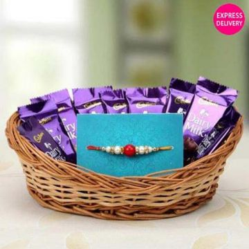 Chocolate Basket Full Of Love - Rakhi Gifts To Manipal
