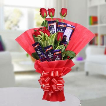 Chocolate Rose Bouquet - Send Gifts To Chittoor