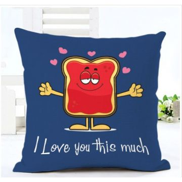 Printed Cushion Cover With Filler Blue Love You This Much