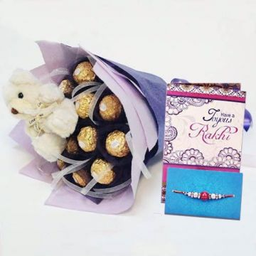Rakhi Cute Choco Love - Rakhi Gifts To Tirupati