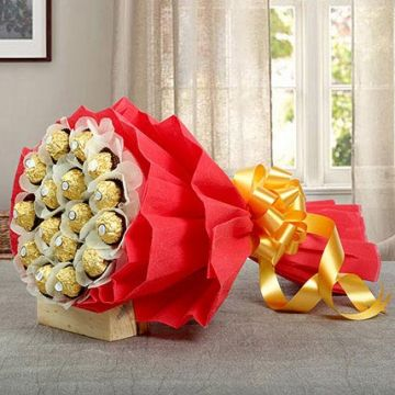 Rocher Choco Bouquet - Send Gifts To Thane