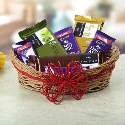 Basket Of Sweet Treat- mother's day chocolate gifts