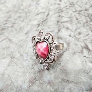Heart Shape Polished Stone Ring - Jewellery Gifts Online