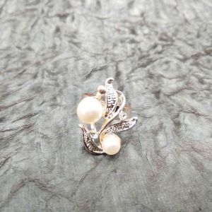 Gold Plated designer Ringh with white pearls - Jewellery Gifts Online