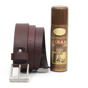 Cigar Deo N Leather Belt - Send Birthday Gifts Online India