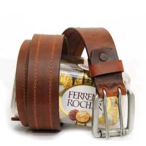 Leather Belt N Chocolates