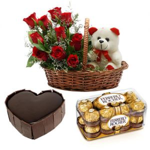 Sweet Love Combo - Heart Shaped Gifts Online