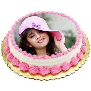 1kg Photo Cake Pineapple - Photo Cakes Online