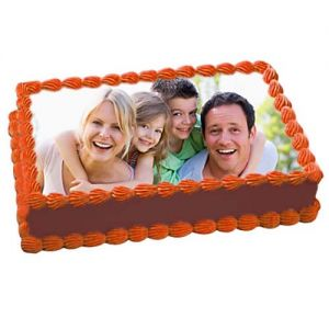1kg Chocolate Delight Photo Cake - Photo Cakes Online