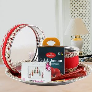 Shringar Set & Thali - Karwa Chauth Gifts for Wife