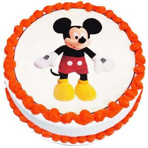 Mickey Mouse Cartoon Cake 1 kg - Gifts for 5Th Birthday