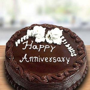 Delightful Round Chocolate Cake - Online Cake Delivery in Chandigarh