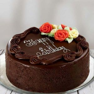 Rose Design Chocolate Birthday Cake - Online Cake Delivery In Noida