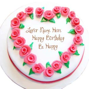 Roses Heart Birthday Cake  1 kg - Send Heart Shaped Cakes Online