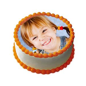 Butterscotch Photo Cake 1 kg - Photo Cakes Online