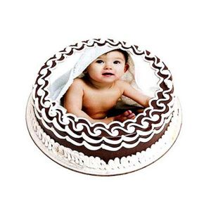 Chocolate Photo Cake 1 kg - Gifts for 5Th Birthday