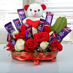 Special Surprise Arrangement - Send Flowers with Teddy Bears Online
