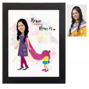 Mom's Personalized Caricature Frame - Mothers Day Gifts Online