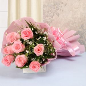 Pink Beauty Bouquet - Send Flowers to Patiala