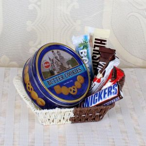 Basket of Cookies and Chocolates - Chocolate Delivery Online