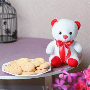 Assorted Cookies with Teddy - Send Sweets Online