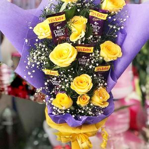 Yellow n Chocolaty - Send Flowers To Bangalore