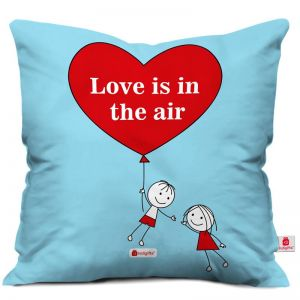 Flying Couple In Love Blue Cushion Cover - Personalized Cushions Online