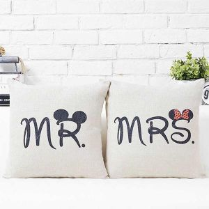 Mr & Mrs Big Ears Couple Cushions - Personalized Cushions Online