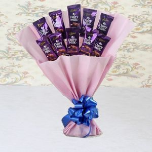 Loving Gesture of Dairy Milk Bouquet - Send Flowers to Ujjain