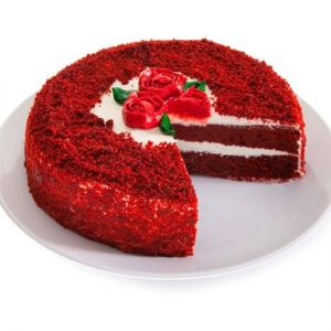 Red Velvet Cake Half Kg  - Send Christmas Gifts Delivery Across India