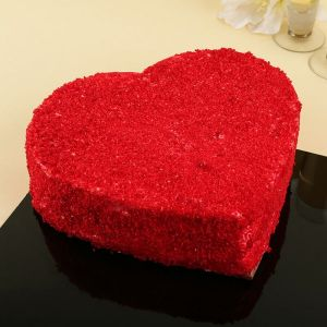 Red Velvet Cake Half Kg - Send Heart Shaped Cakes Online
