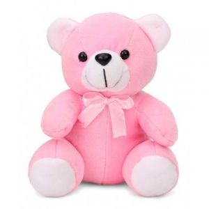 Cute Pink Teddy For Valentine - Gifts for Kids