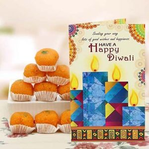 Mouthwatering Laddoo Wishes - Same Day Gifts for Diwali