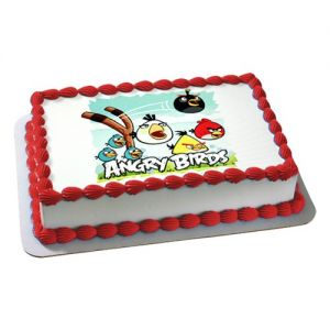 Angry Bird Photo Cake - Photo Cakes Online