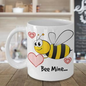 Bee Mine Valentines Coffee Mug - Send Romantic Gifts Online