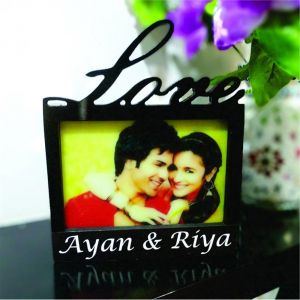 Love Photo Frame Lamp - Send Birthday Gifts Online India