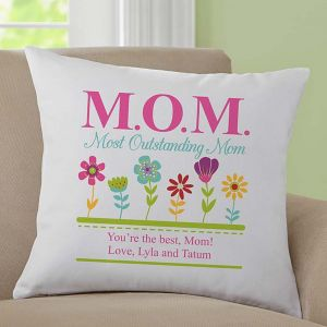 Most Outstanding Mom Throw Pillow - Gifts for Mother in Law