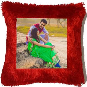 Square Fur Cushion  - Send Romantic Gifts Online