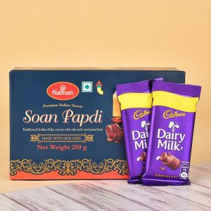 Soan Papdi N Dairy Milk Chocolates - Send Gift Hampers Online