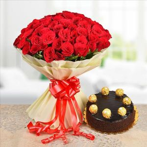 100 ROSES N CHOCOLATE CAKE  - Gift Ideas for Parents