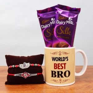 Worlds Best Bro - Rakhi Gifts for Brother