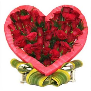 Red Roses In Heart - Roses for Birthday