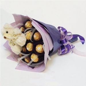 Chocolate Bouquet Arrangement - Send Flowers with Teddy Bears Online