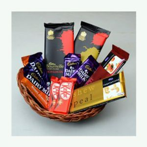 Special Chocolates in Basket Gift Hamper - Chocolate Delivery Online