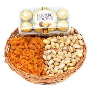 FERRERO ROCHER AND DRY FRUITS BASKET