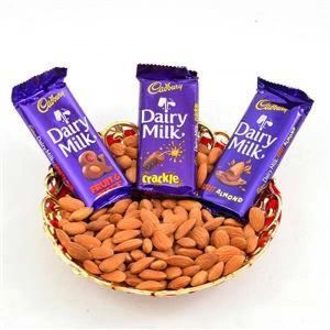 ALMOND AND DAIRY MILK HAMPER