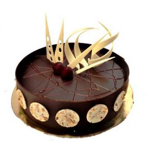 1 kg Dark Chocolate Cake - Online Cake Delivery in Chandigarh