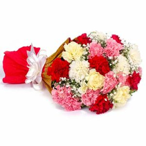 Multi Color Carnations Bouquet - Mixed Flowers Online