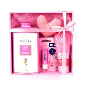 Refreshing Pink Hamper - SPA And Cosmetics Gifts Hampers
